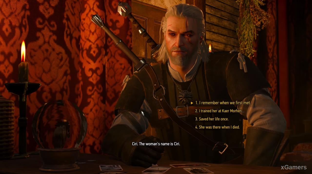 The dreamer will ask Geralt to tell more about his life