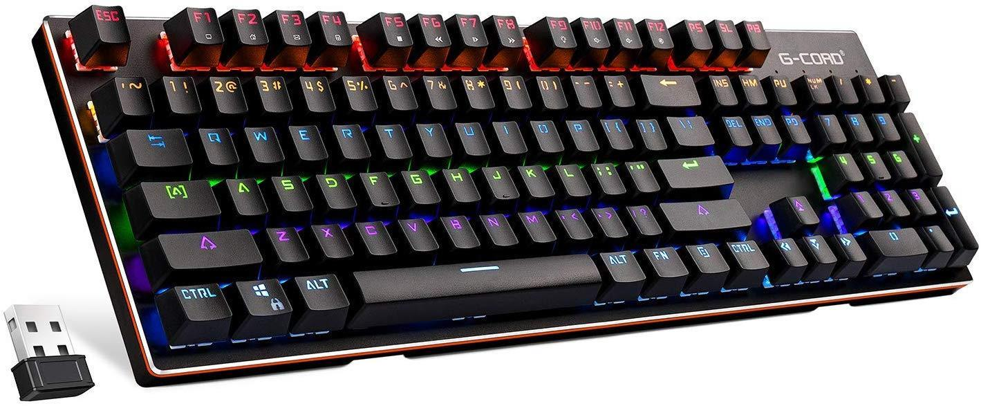 G-Cord Wireless Mechanical Rechargeable Keyboard - Best Gaming Wireless Keyboard