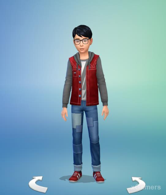 In the game set are additions to clothing for Sims of any age
