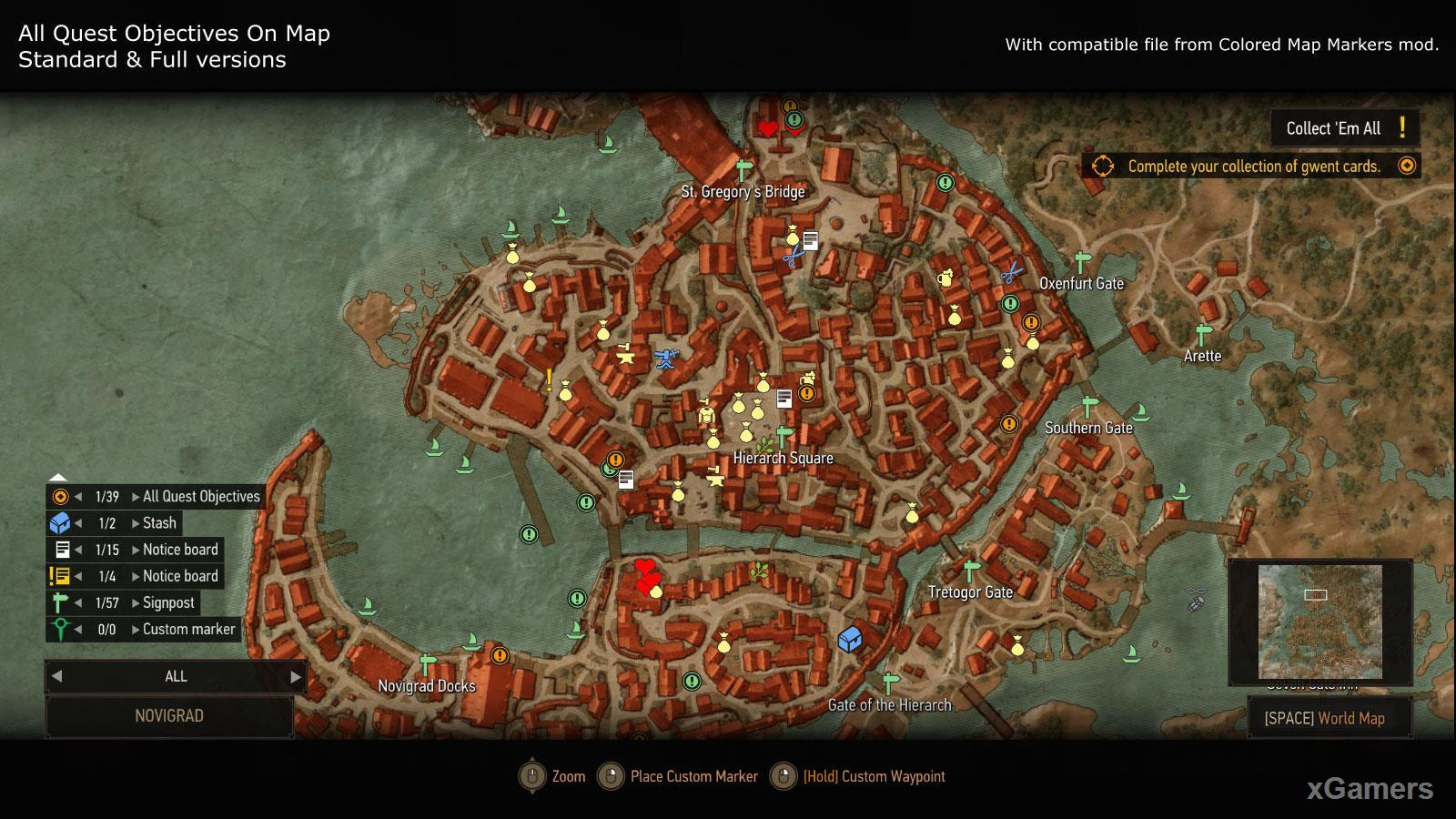 Mod: All Quest Objectives On Map