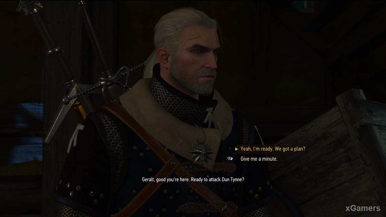 Geralt ready to attack by developed plan