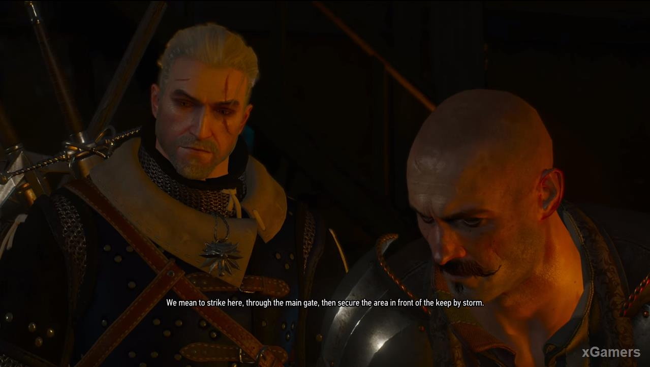 The witcher will need to distract the soldiers