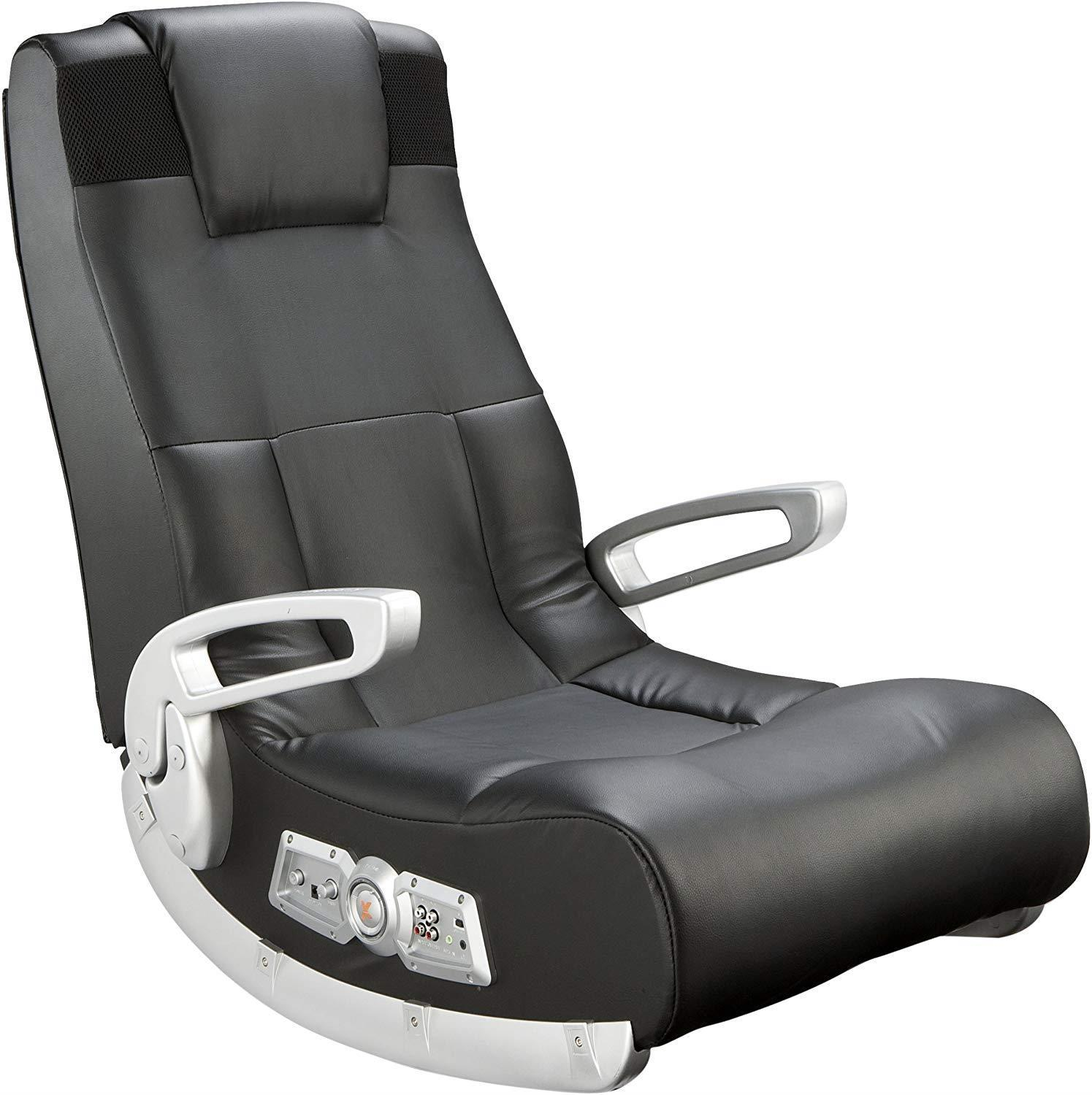 Ace Bayou X Rocker II SE 2.1 Black Leather Floor Video Gaming Chair