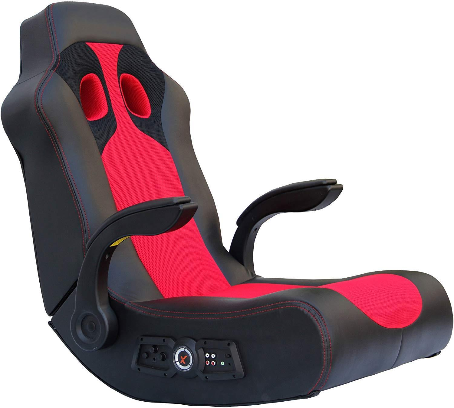 Ace Bayou X Rocker Vibe 2.1 Wireless Bluetooth Highback Rocking Video Gaming Floor Chair