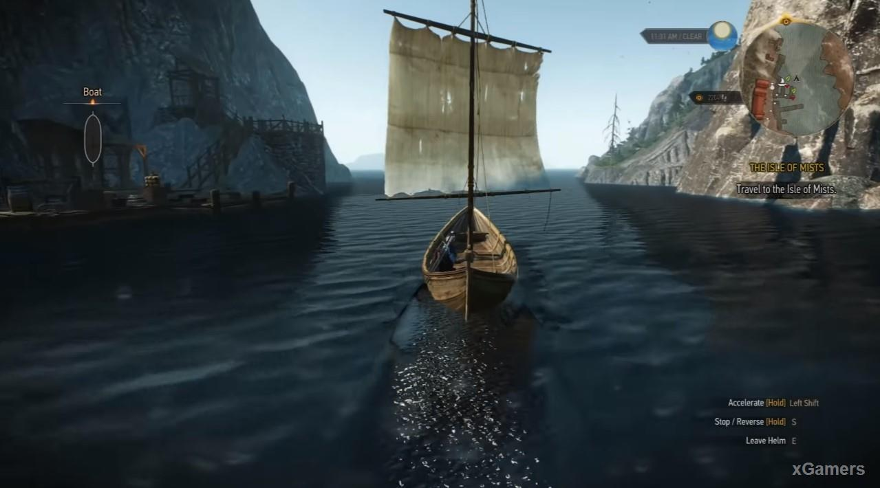 Start searching for Islands Of Mists from the location Skellige