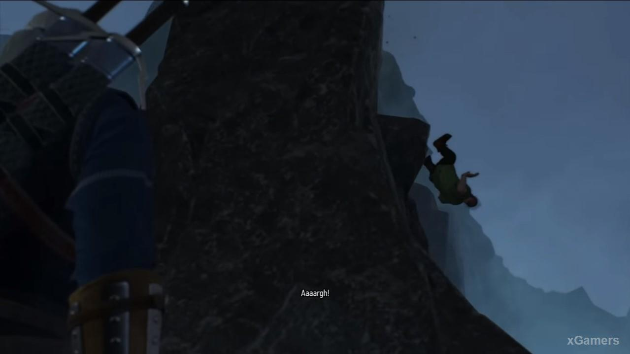 Witcher will see Ivo climbing to the top of the cliff