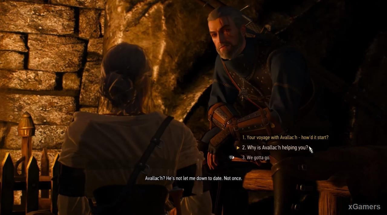 Very emotional scene between Ciri and Geralt