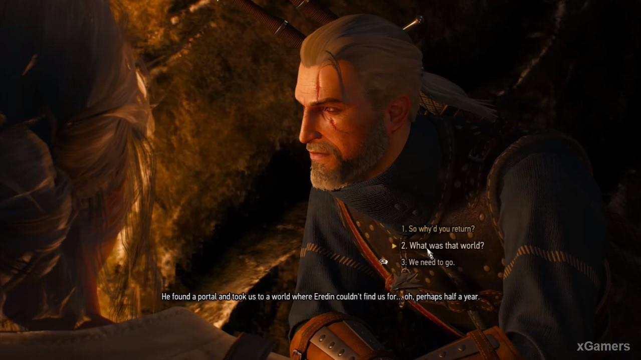 Geralt ask Ciri about her adventure