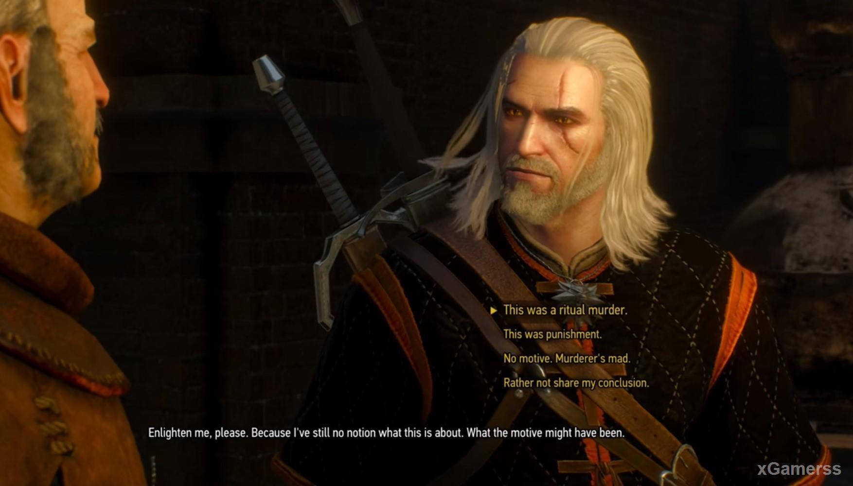The Witcher 3: quest: Carnal Sins