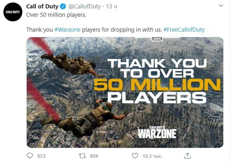 This significant mark WARZONE reached in 31 days since the release of the game.