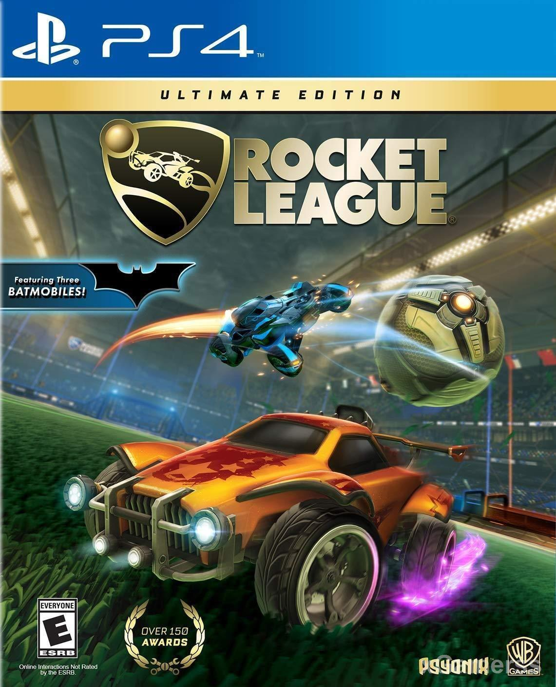 Rocket League - a combination of outgoing cars playing soccer games