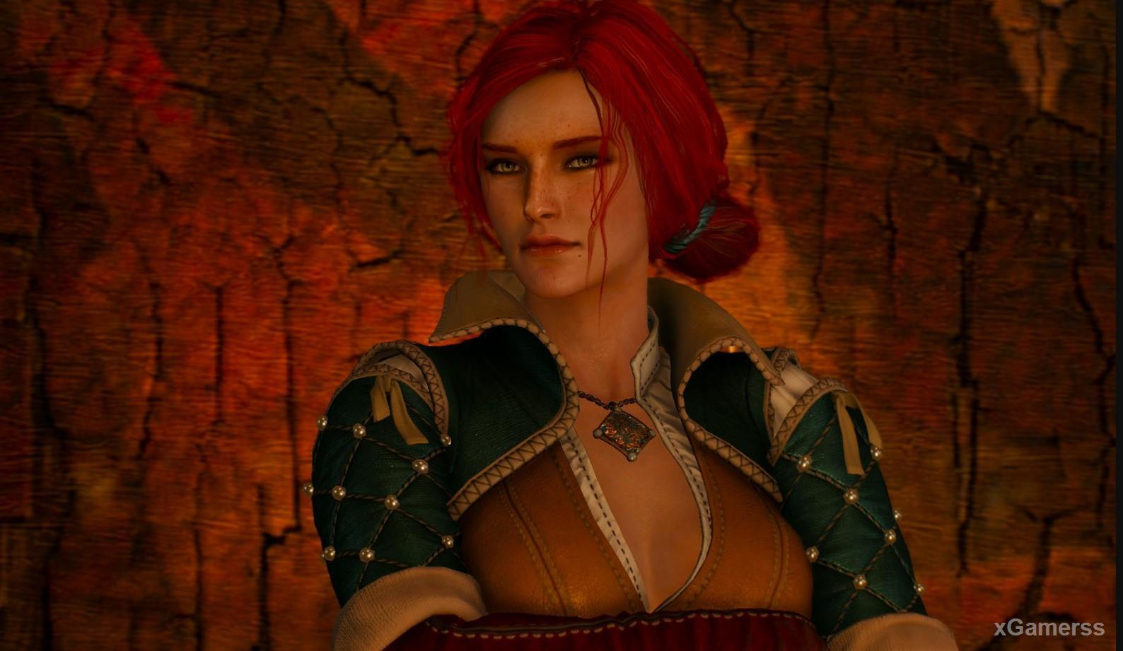 Beautiful red-haired sorceress Triss