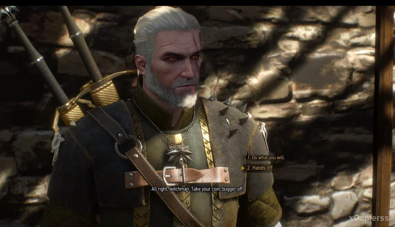 Geralt need make not easy choice
