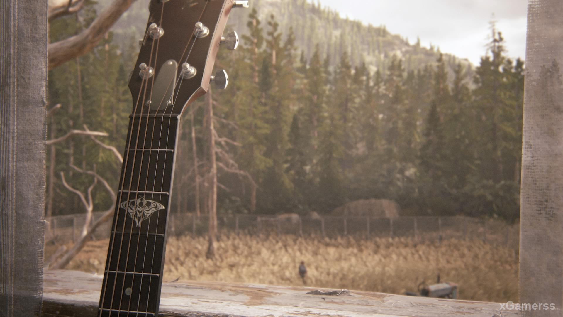 Guitar in game The Last of Us 2