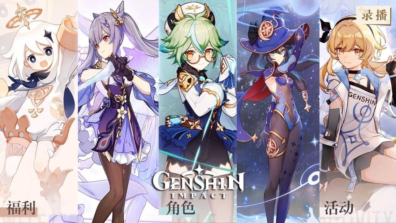 Great design the Characters in Genshin Impact