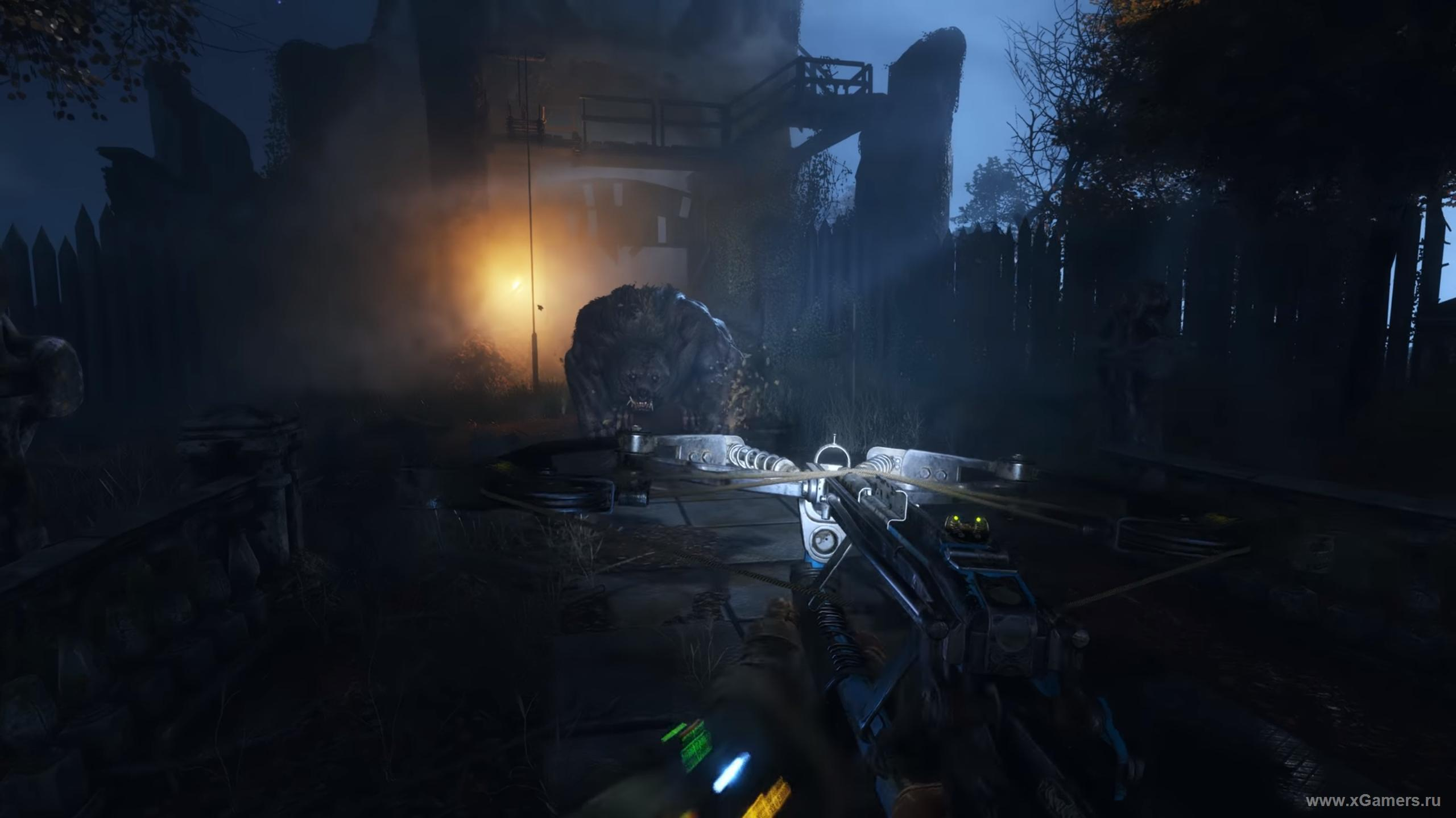 Battle with a bear in the game Metro Exodus