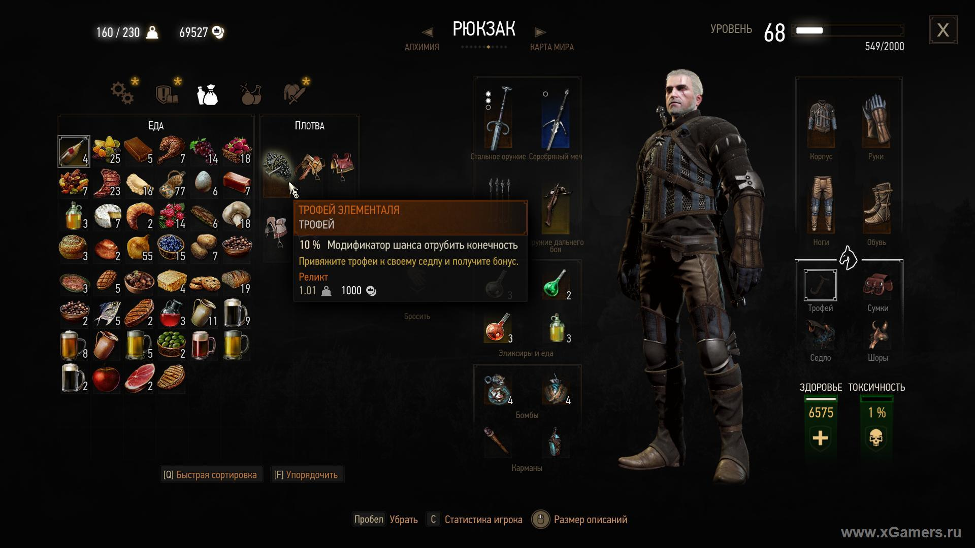 The Witcher 3 sword Rip the hat