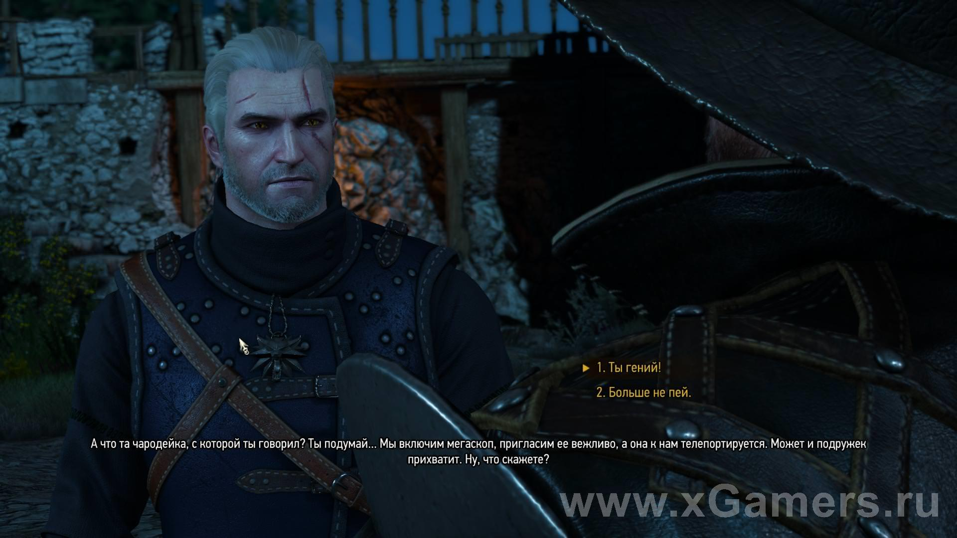 """Visiting is good, but at home is better"" in The Witcher 3 Wild Hunt"
