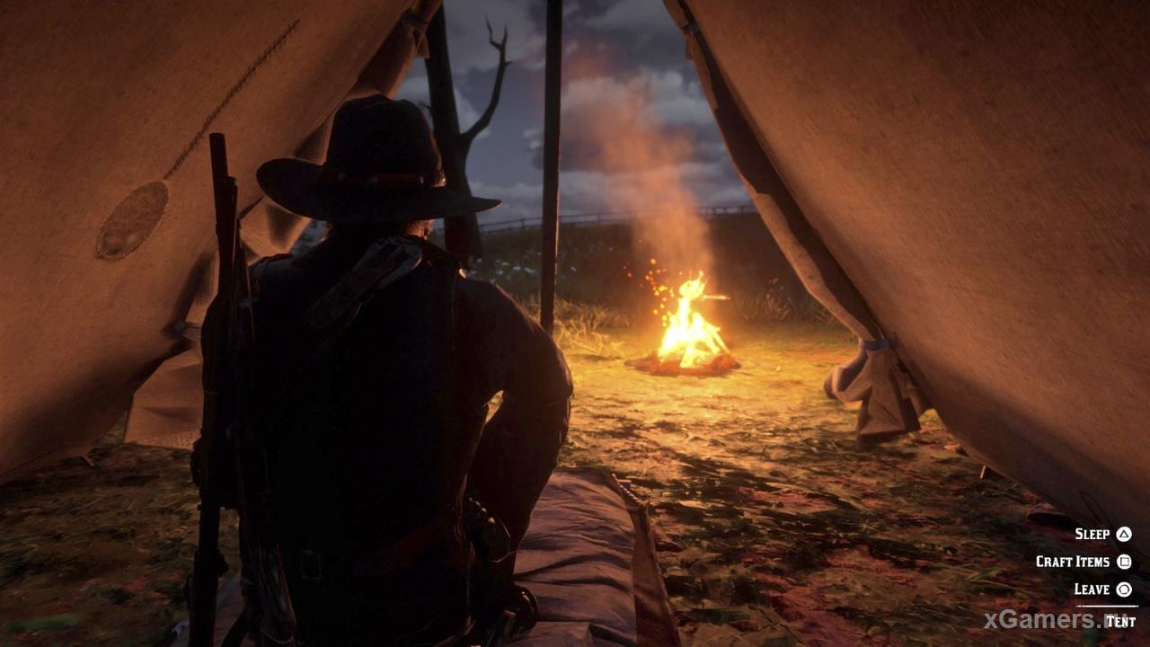 Camp in the game red dead redemption 2